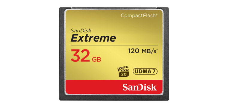 Thẻ CF32GB (120Mb/s 800x ) Sandisk Extreme Compact Flash UDMA 7