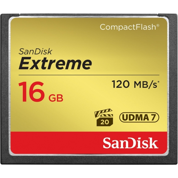 SanDisk Extreme® CompactFlash 800X 16GB