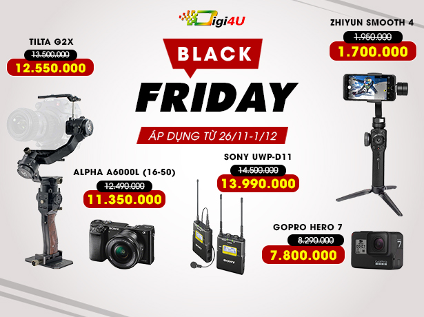 Black friday 2019 giảm giá shock