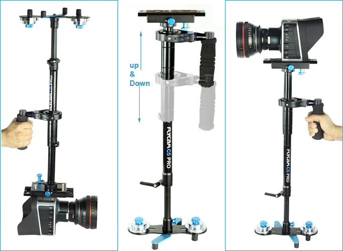 flycam_c5_pro_handheld_stabilizer_gimbal_adjustment