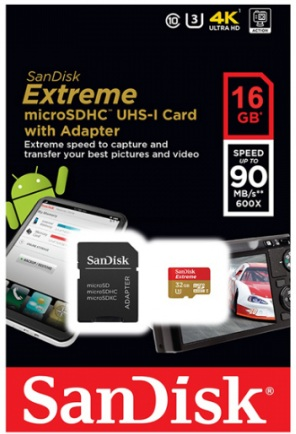 Sandisk Micro SD Ultra 16GB 90Mb/s 600X
